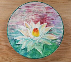 Sioux Falls Lotus Flower Plate